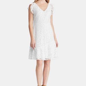 Ralph Lauren white lace dress